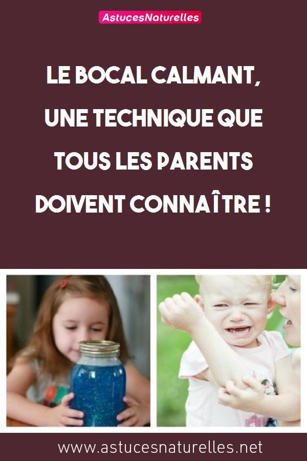 Le bocal calmant, une technique que tous les parents doivent connaître !