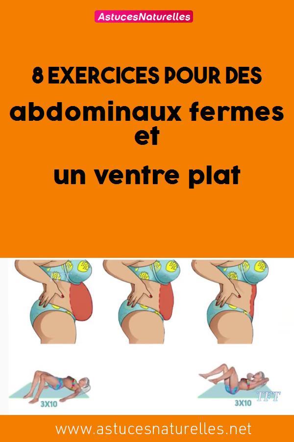 8 exercices pour des abdominauxfermes et un ventre plat