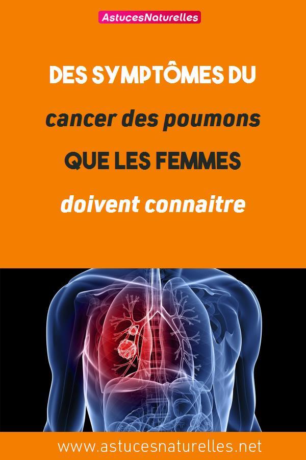 Des symptômes du cancer des poumons que les femmes doivent connaitre