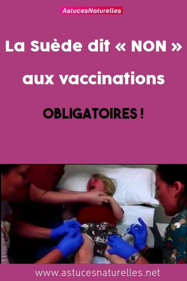 La Suède dit « NON » aux vaccinations obligatoires !