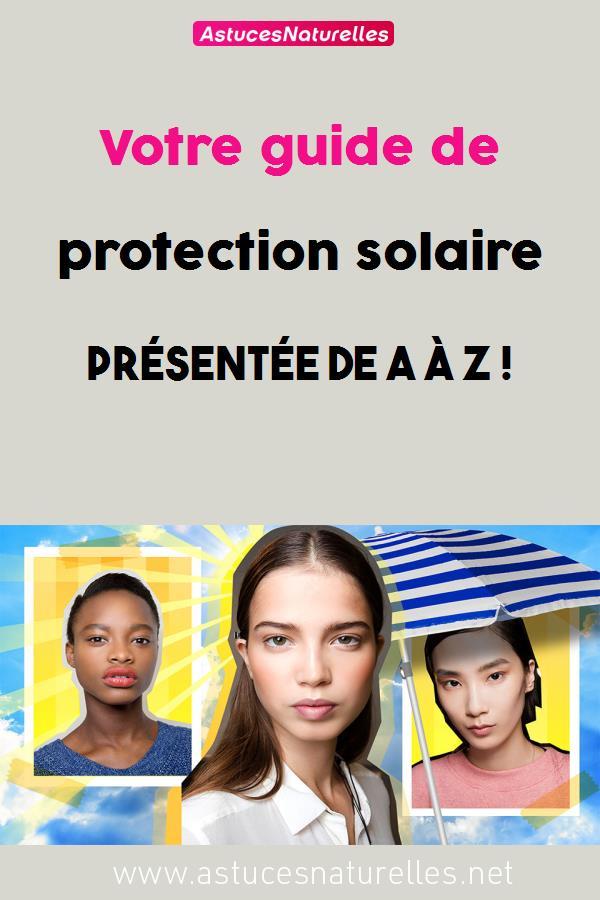 Votre guide de protection solaire présentée de A à Z !