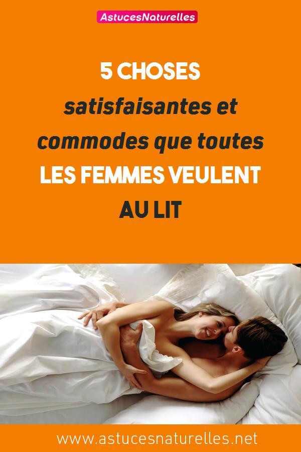 5 choses satisfaisantes et commodes que toutes les femmes veulent au lit
