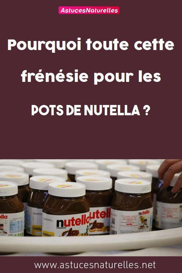 Pourquoi toute cette frénésie pour les pots de Nutella ?