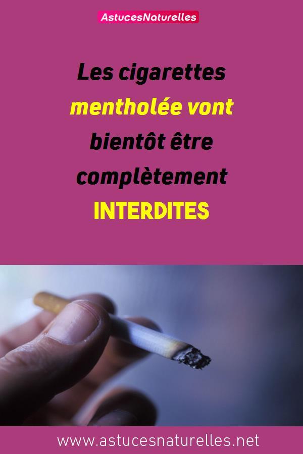 Les cigarettes mentholée vont bientôt être complètement interdites