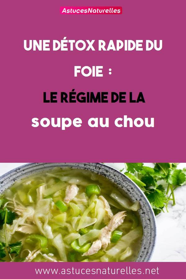 Une détox rapide du foie : Le régime de la soupe au chou