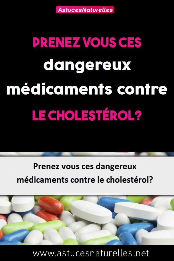 Prenez vous ces dangereux médicaments contre le cholestérol?