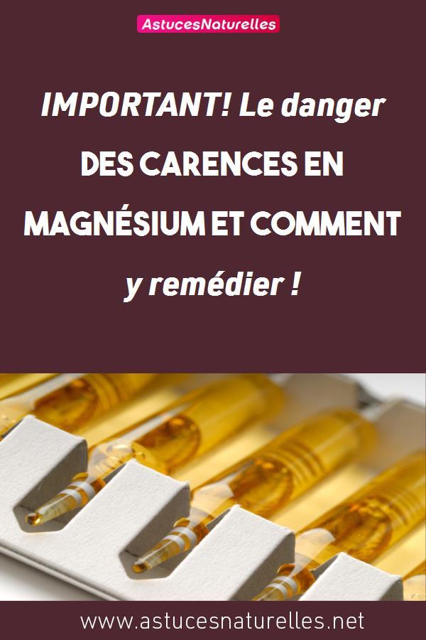 IMPORTANT! Le danger des carences en magnésium et comment y remédier !