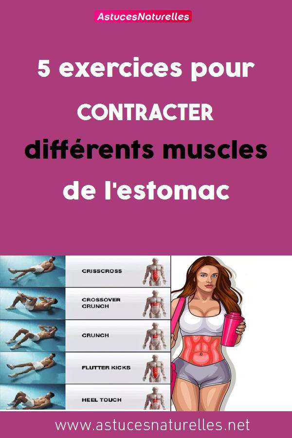 5 exercices pour contracter différents muscles de l'estomac