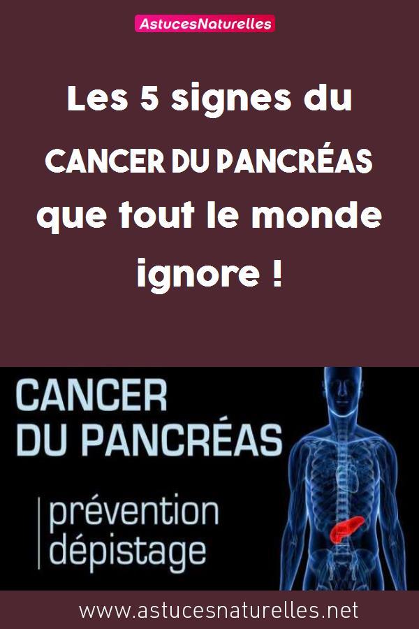 Les 5 signes du cancer du pancréas que tout le monde ignore !