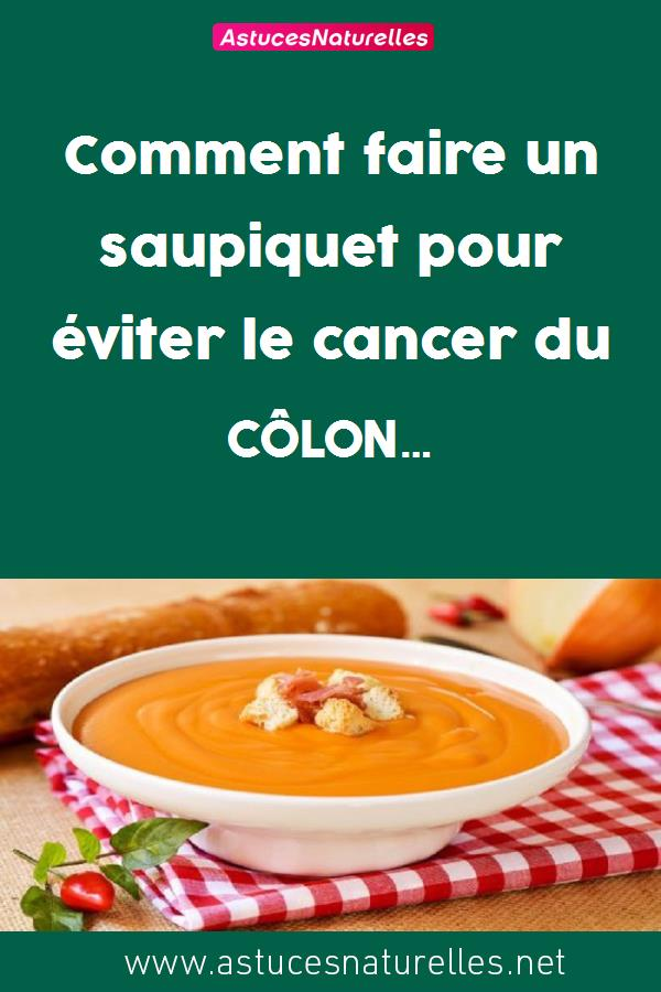 Comment faire un saupiquet pour éviter le cancer du côlon…