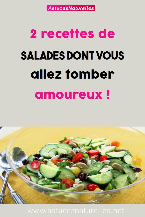 2 recettes de salades dont vous allez tomber amoureux !