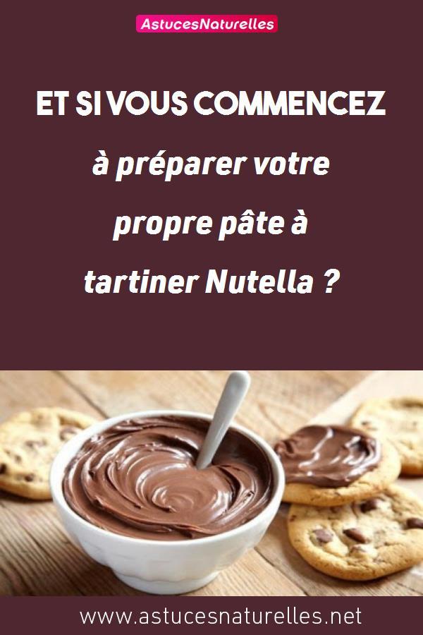 Et si vous commencez à préparer votre propre pâte à tartiner Nutella ?