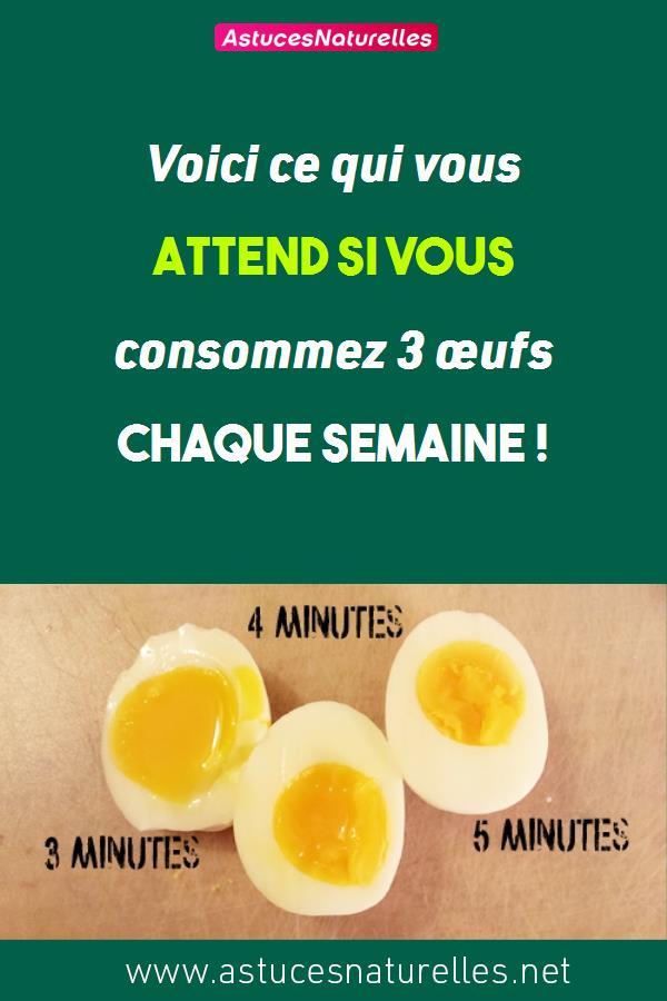 Voici ce qui vous attend si vous consommez 3 œufs chaque semaine !
