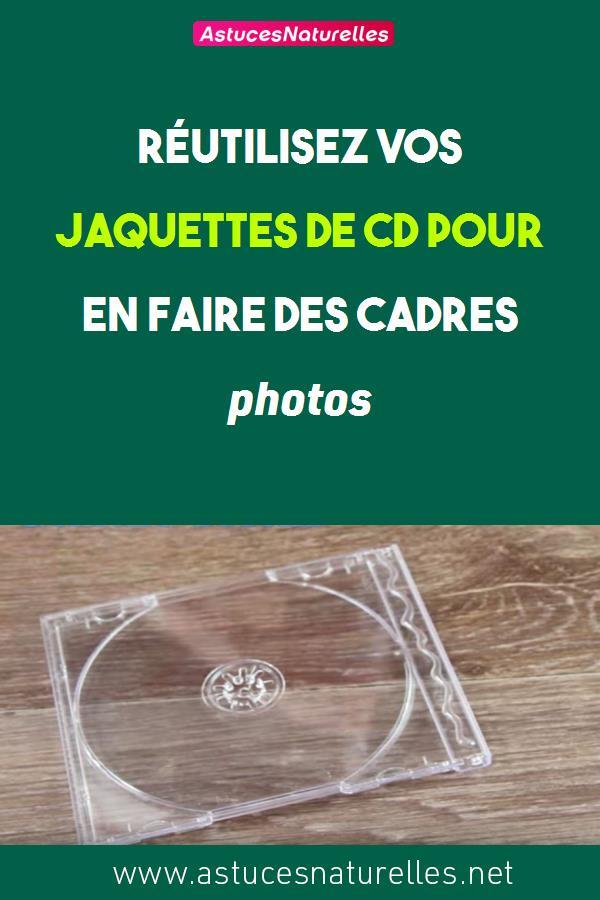 Réutilisez vos jaquettes de CD pour en faire des cadres photos