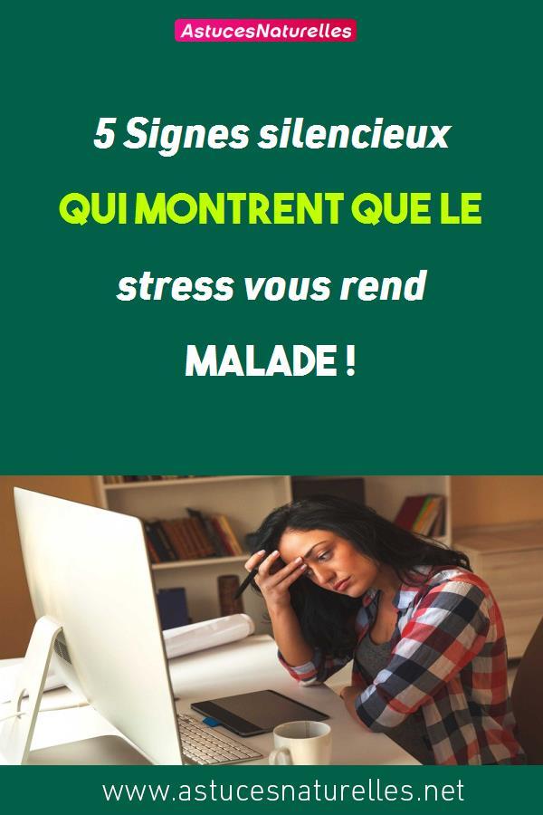 5 Signes silencieux qui montrent que le stress vous rend malade !