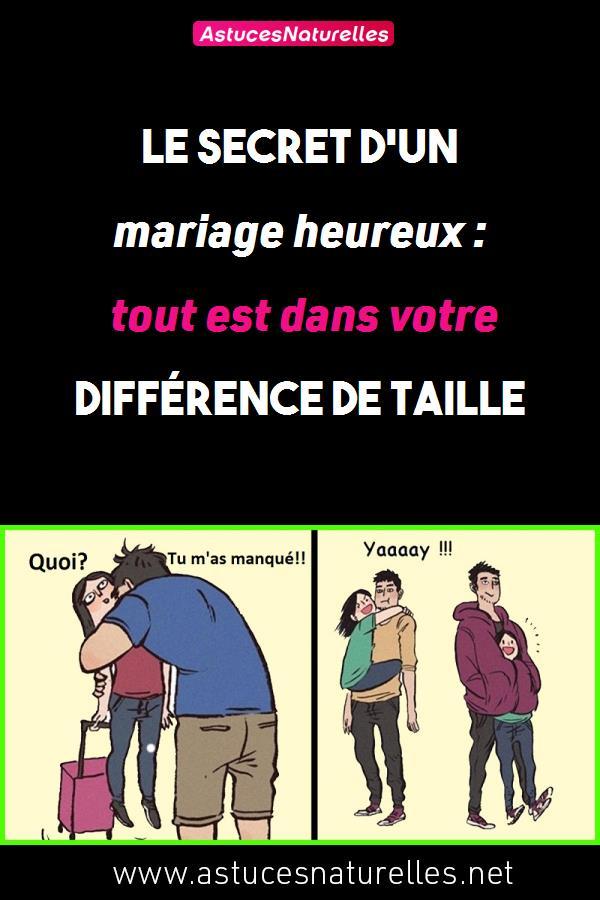 Le secret d'un mariage heureux: tout est dans votre différence de taille