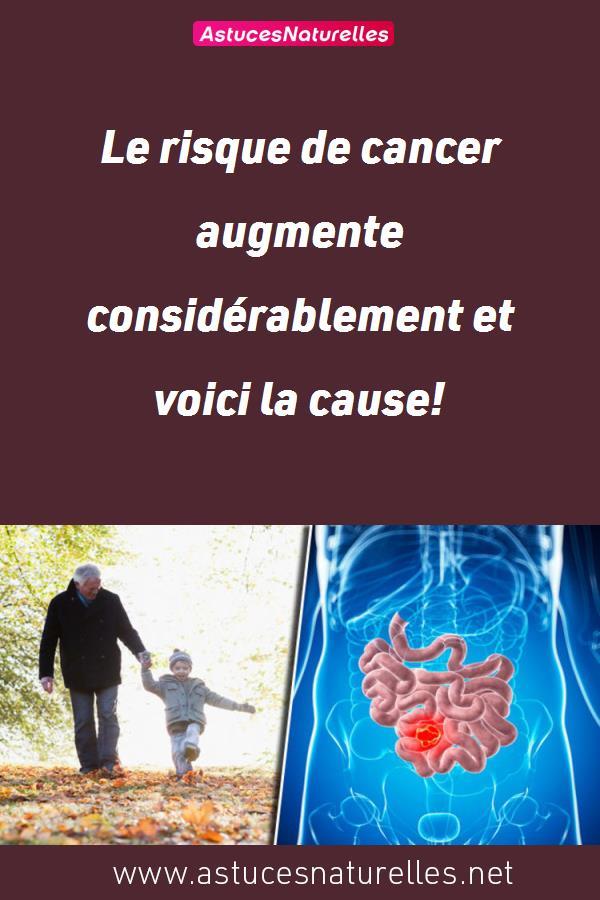 Le risque de cancer augmente considérablement et voici la cause!
