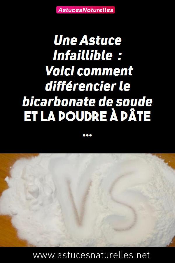 Une Astuce Infaillible : Voici comment différencier le bicarbonate de soude et la poudre à pâte …