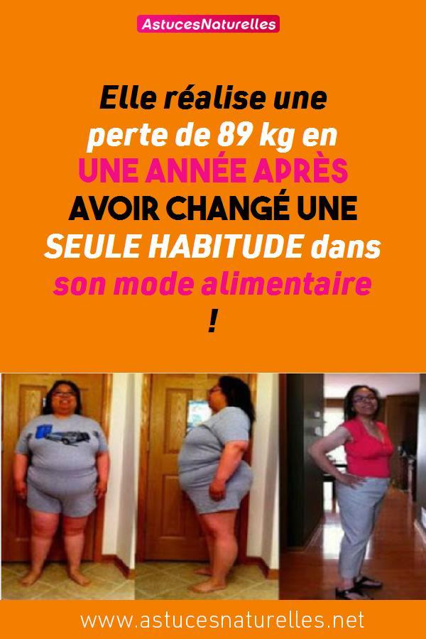 Elle réalise une perte de 89 kg en une année après avoir changé une SEULE HABITUDE dans son mode alimentaire !