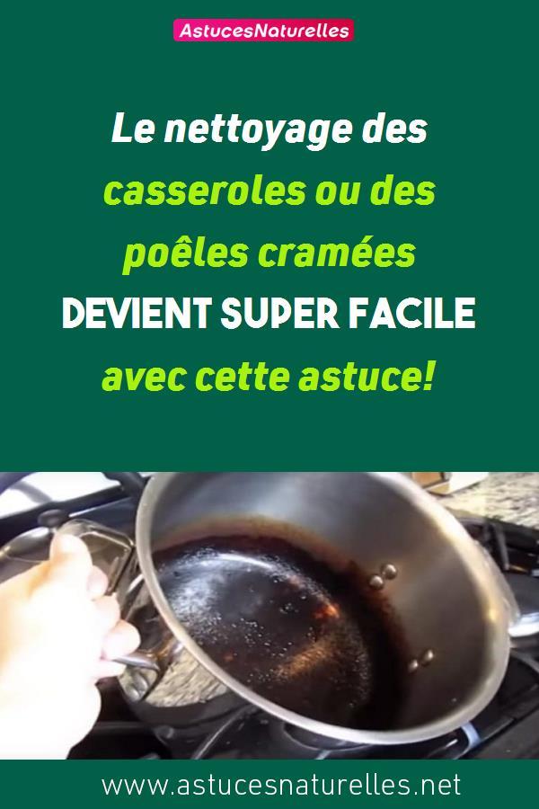 Le nettoyage des casseroles ou des poêles cramées devient super facile avec cette astuce!
