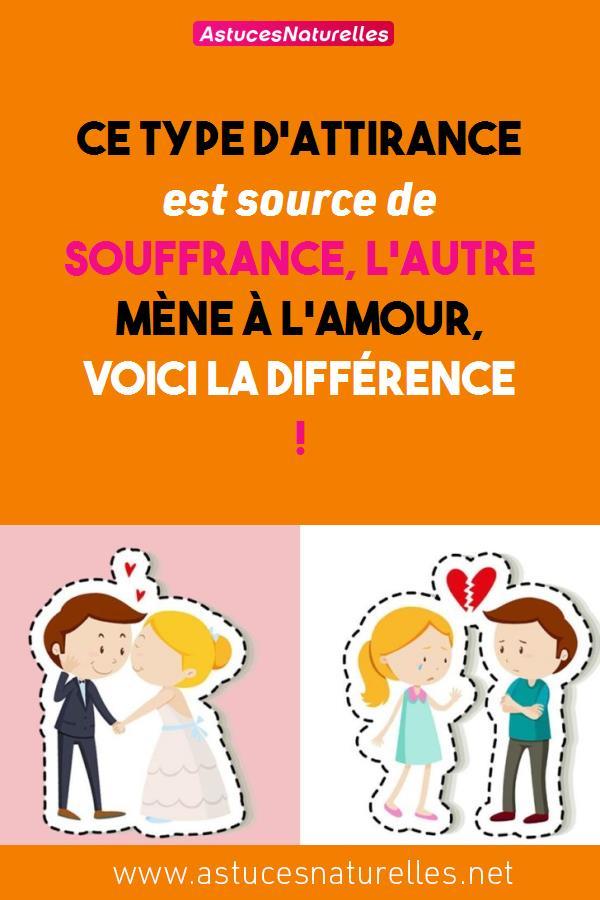Ce type d'attirance est source de souffrance, l'autre mène à l'amour, voici la différence !