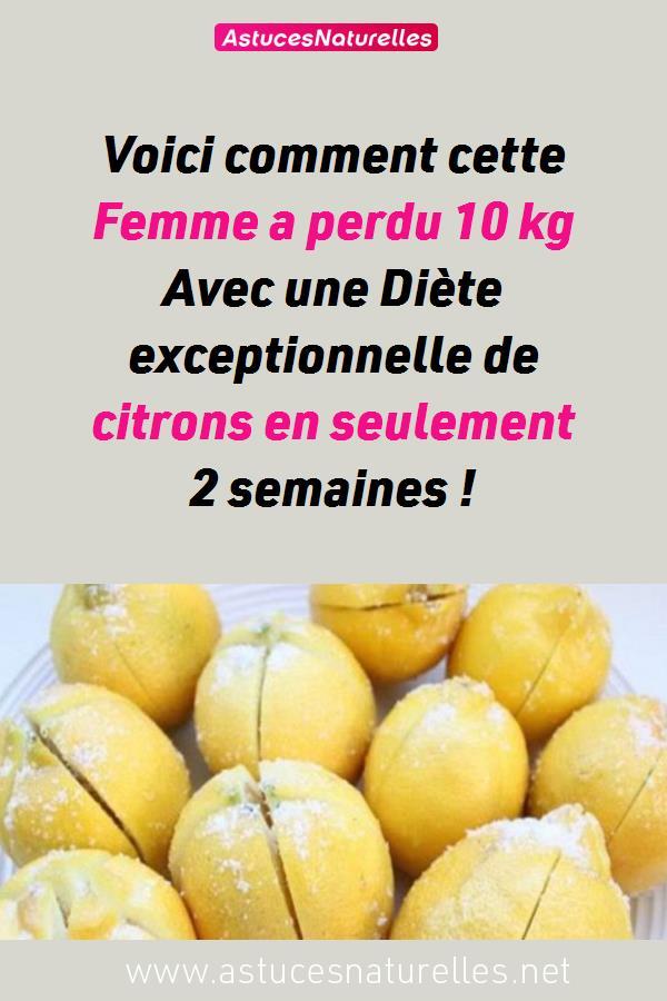 Voici comment cette Femme a perdu  10 kg Avec une Diète exceptionnelle de citrons en seulement 2 semaines !