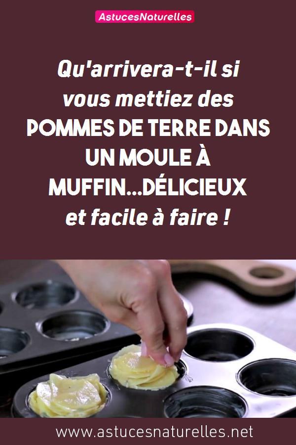 Qu'arrivera-t-il si vous mettiez des pommes de terre dans un moule à muffin…Délicieux et facile à faire !