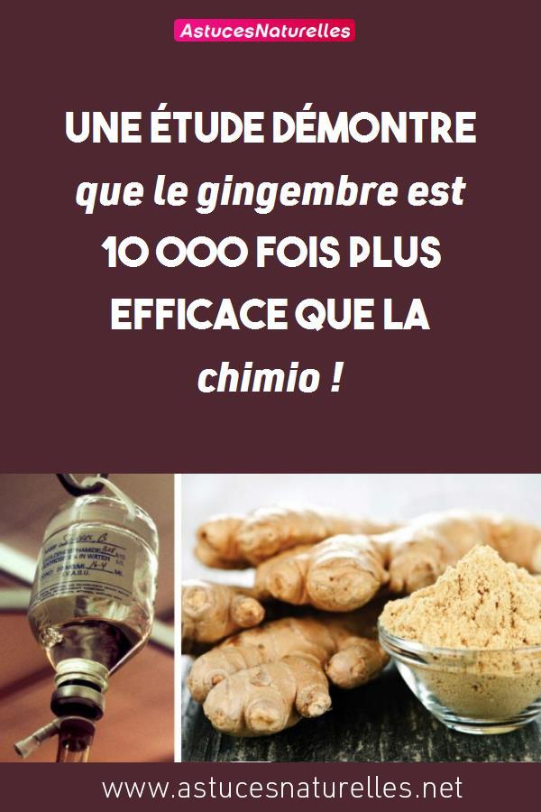 Une étude démontre que le gingembre est 10 000 fois plus efficace que la chimio !
