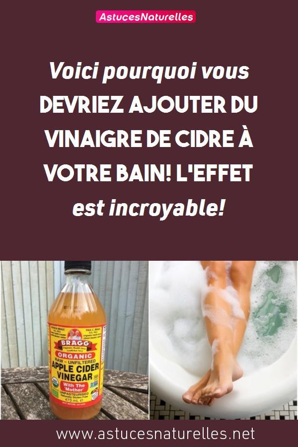 Voici pourquoi vous devriez ajouter du vinaigre de cidre à votre bain! L'effet est incroyable!