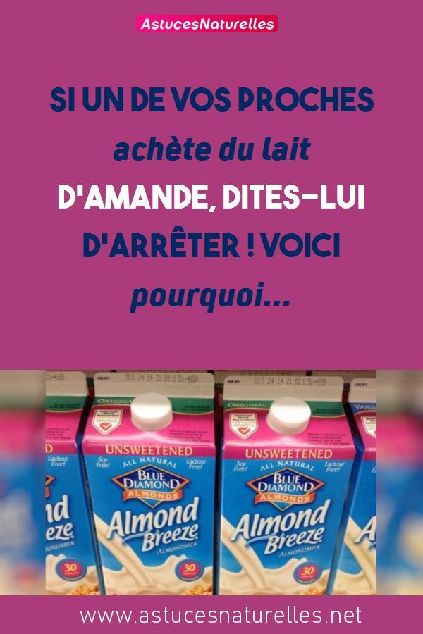 Si un de vos proches achète du lait d'amande, dites-lui d'arrêter ! Voici pourquoi…