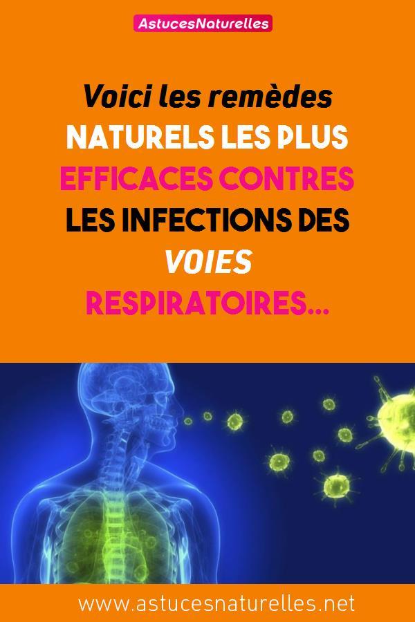 Voici les remèdes naturels les plus efficaces contres les infections des VOIES RESPIRATOIRES…