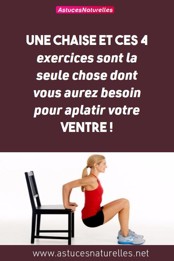 Une chaise et ces 4 exercices sont la seule chose dont vous aurez besoin pour aplatir votre ventre !