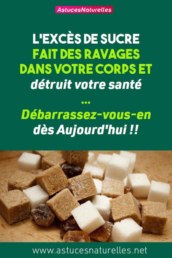 L'excès de sucre fait des ravages dans votre corps et détruit votre santé … Débarrassez-vous-en dès Aujourd'hui !!