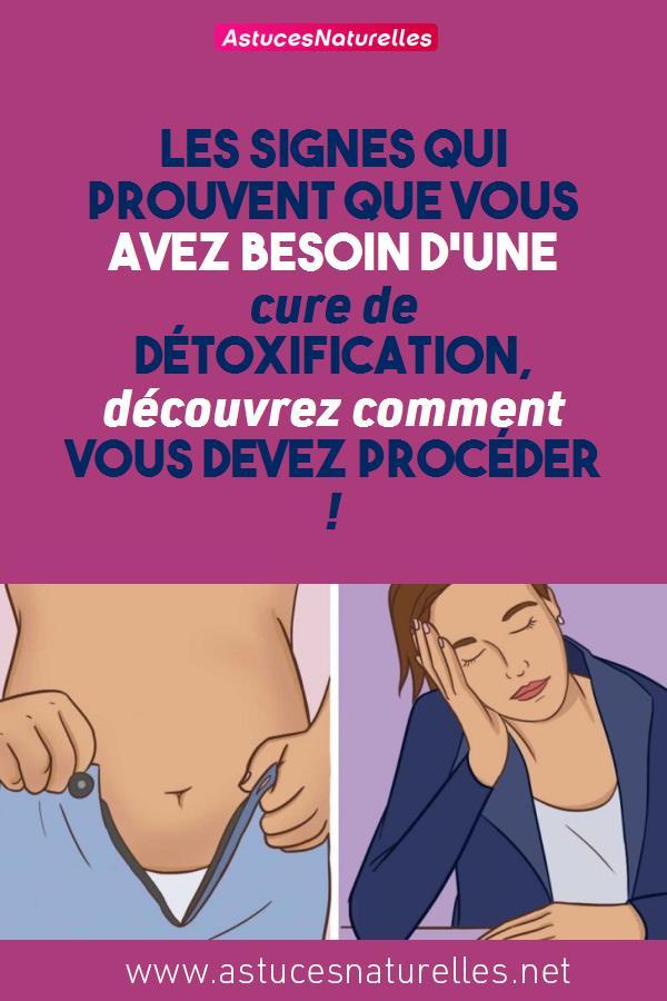 Les signes qui prouvent que vous avez besoin d'une cure de détoxification,  découvrez comment vous devez procéder !