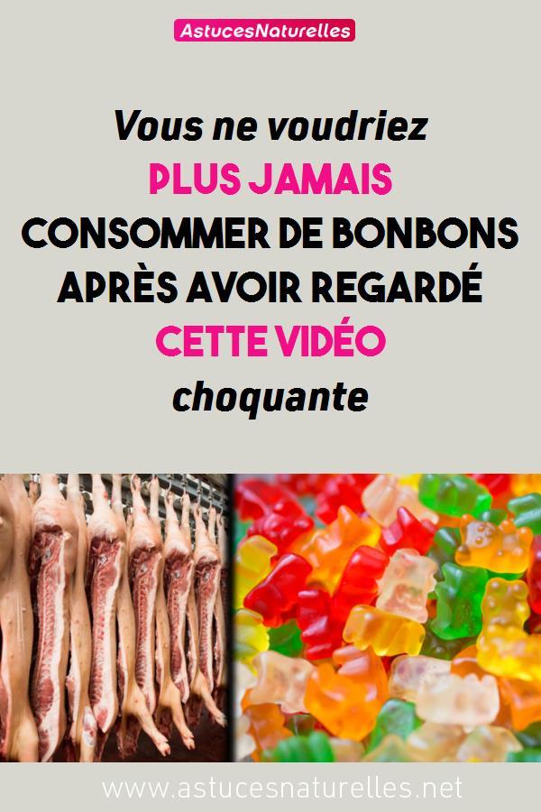 Vous ne voudriez plus jamais consommer de bonbons après avoir regardé cette vidéo choquante