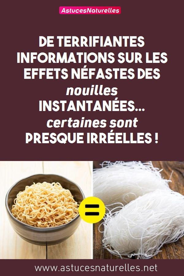 De terrifiantes informations sur les effets néfastes des nouilles instantanées… certaines sont presque irréelles !