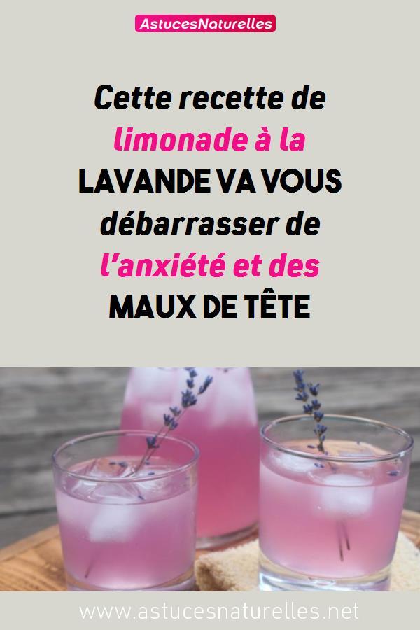 Cette recette de limonade à la lavande va vous débarrasser de l'anxiété et des maux de tête