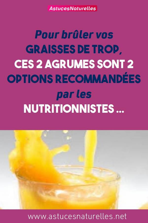 Pour brûler vos graisses de Trop, Ces 2 agrumes sont 2 Options recommandées par les Nutritionnistes …