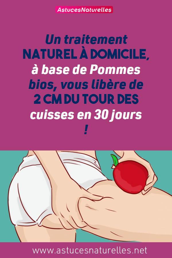 Un traitement naturel à domicile, à base de Pommes bios, vous libère de 2 cm du tour des cuisses en 30 jours !