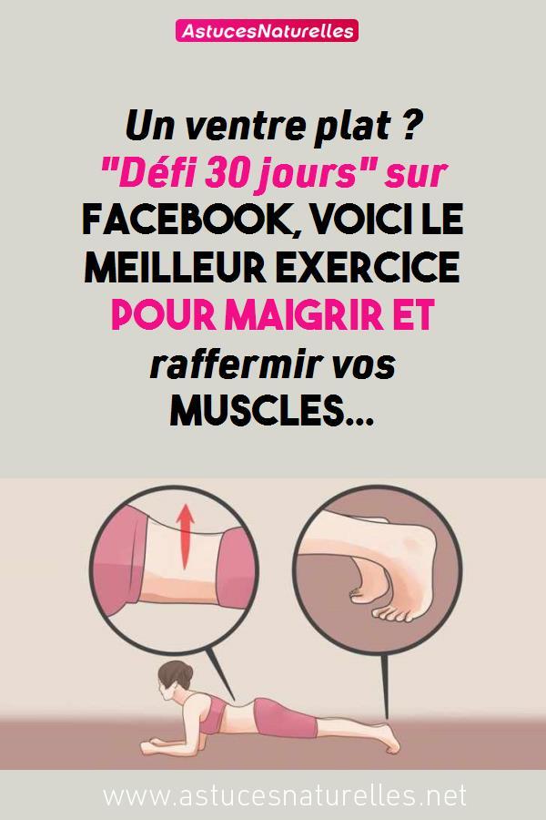 Un ventre plat ? «Défi 30 jours» sur Facebook, Voici le meilleur exercice pour maigrir et raffermir vos muscles…