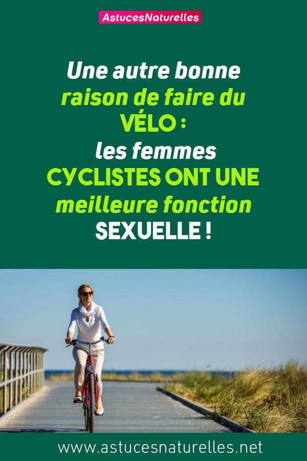 Une autre bonne raison de faire du vélo: les femmes cyclistes ont une meilleure fonction sexuelle !