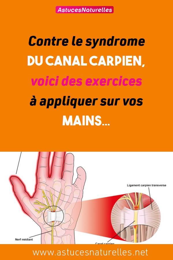 Contre le syndrome du canal carpien, voici des exercices à appliquer sur vos mains…