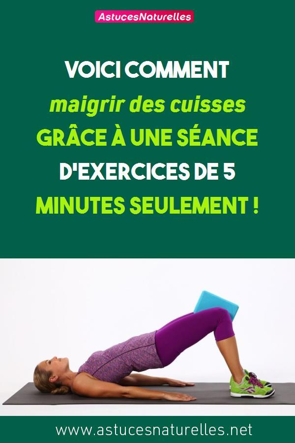 Voici comment maigrir des cuisses grâce à une séance d'exercices de 5 minutes seulement !
