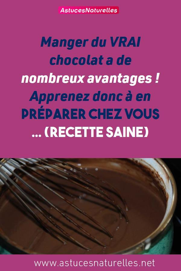 Manger du VRAI chocolat a de nombreux avantages ! Apprenez donc à en préparer chez vous … (RECETTE SAINE)