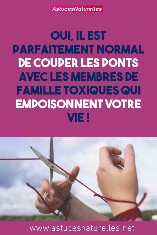 Oui, il est parfaitement normal de couper les ponts avec les membres de famille toxiques qui empoisonnent votre vie !