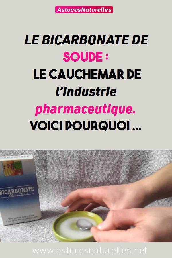 LE BICARBONATE DE SOUDE: le cauchemar de l'industrie pharmaceutique. Voici Pourquoi …