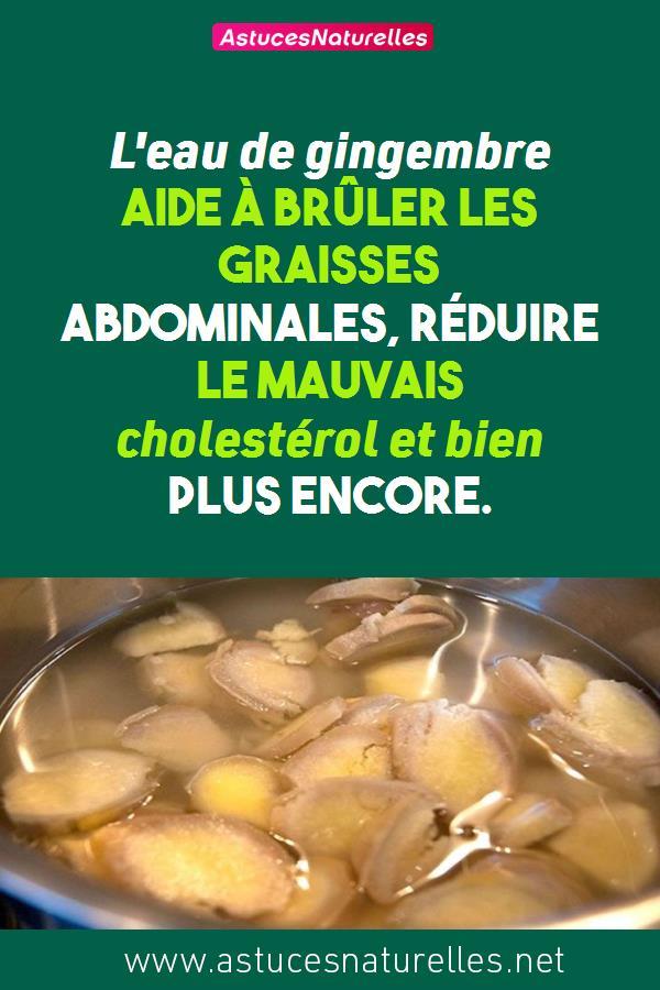 L'eau de gingembre aide à brûler les graisses abdominales, réduire le mauvais cholestérol et bien plus encore.
