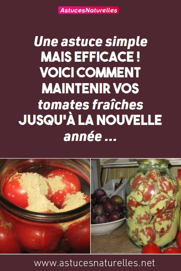 Une astuce simple mais efficace ! Voici comment maintenir vos tomates fraîches jusqu'à la nouvelle année …