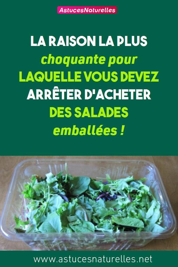 La raison la plus choquante pour laquelle vous devez arrêter d'acheter des salades emballées !