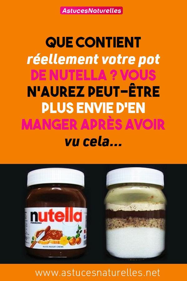 Que contient réellement votre pot de  Nutella ? Vous n'aurez peut-être plus envie d'en manger après avoir vu cela…